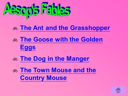 Aesop's Fables  The Ant and the Grasshopper