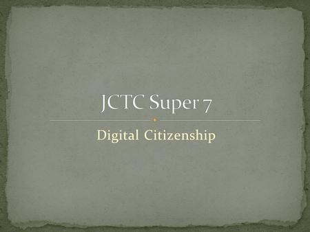 Digital Citizenship. 1. Digital Access- Users need to be aware and support access for all to create a community of Digital Citizens. Can be very useful.