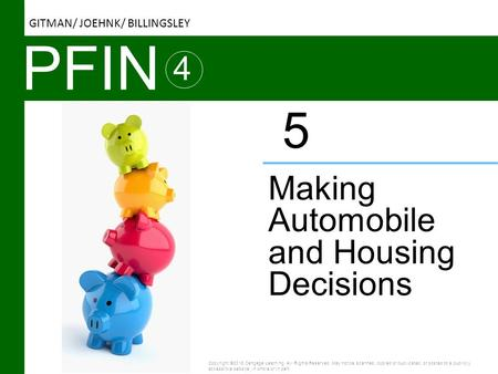 PFIN 5 4 Making Automobile and Housing Decisions