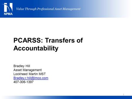 PCARSS: Transfers of Accountability