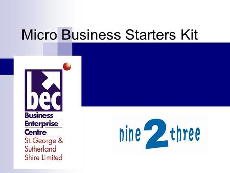 Micro Business Starters Kit. Some of the first things you need to make up are … Pricing Stationery Invoicing Accounting System.