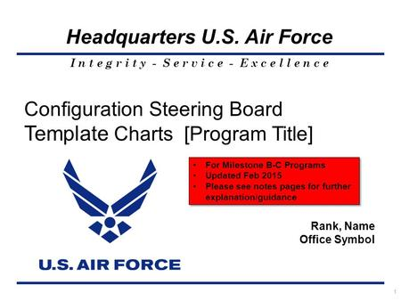 Configuration Steering Board Template Charts [Program Title]