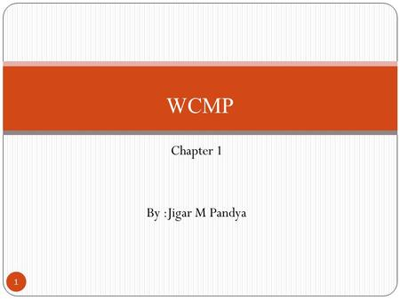 Chapter 1 By :Jigar M Pandya WCMP 1. What Is Mobile Computing? What is computing? Operation of computers (according to oxfords advance learner's dictionary)