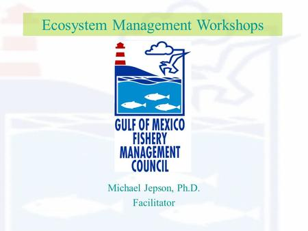 Ecosystem Management Workshops Michael Jepson, Ph.D. Facilitator.