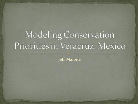 Jeff Malone. Designation of conservation and protection usually based on factors such as: Historical significance Recreational use Scenic beauty Protection.
