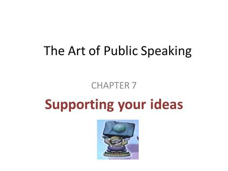 The Art of Public Speaking Summary & Study Guide