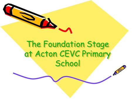 The Foundation Stage at Acton CEVC Primary School