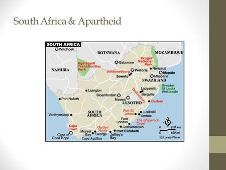 South Africa & Apartheid. Unusual Colonial History Colonialism usually represents a struggle between a group of colonized resisters and a single group.