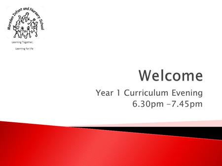 Year 1 Curriculum Evening 6.30pm -7.45pm Learning Together; Learning for life.