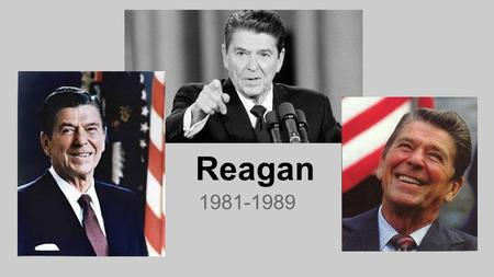 Reagan 1981-1989. Domestic-Influence of Nixon Reagan was the most important political figure of the age. He made it successful not solely responsible.