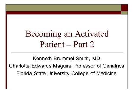 Becoming an Activated Patient – Part 2