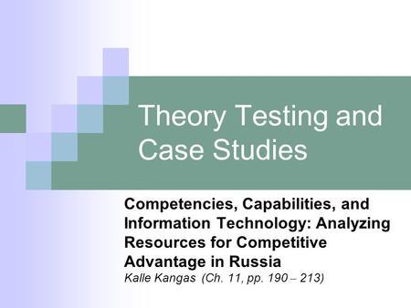 walsham interpretive case studies