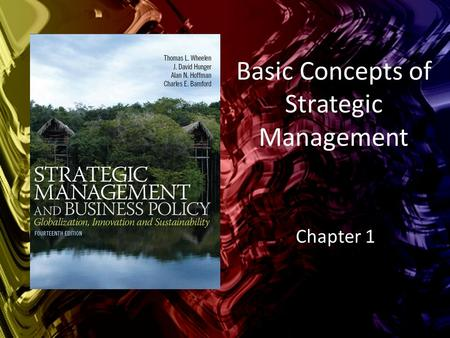 Basic Concepts of Strategic Management Chapter 1.