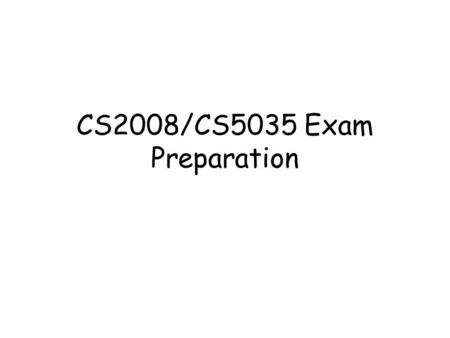 CS2008/CS5035 Exam Preparation. Dept. of Computing Science, University of Aberdeen2 Organization of Lecture Notes Group 1 - SQL –L1 – Introduction –L2.