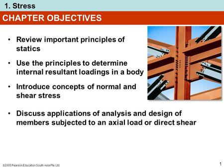 CHAPTER OBJECTIVES Review important principles of statics
