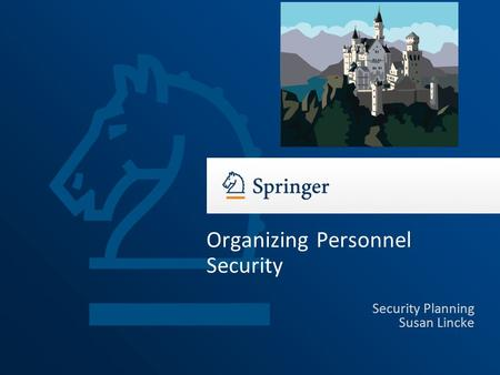 Organizing Personnel Security