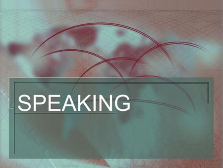 SPEAKING Content 1.Warm Warm - up 2.Speaking Speaking activities 3.More More discussion Content page.