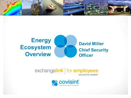 Energy Ecosystem Overview David Miller Chief Security Officer.