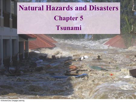 "Natural Hazards and Disasters Chapter 5 Tsunami. Tsunami is a ""harbor wave"" Waves rise highest where focused in bays or harbors."