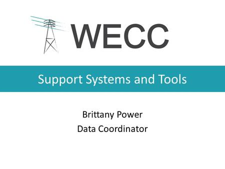 Support Systems and Tools Brittany Power Data Coordinator.