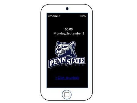 00:00 Monday, September 1 iPhone.: 69% > Click to unlock.