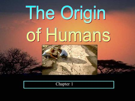 Chapter 1. Where did the first humans come from? It is believed that the earliest form of humans was found in East Africa by Louis and Mary Leakey in.