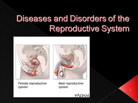 1 Diseases and Disorders of the Reproductive System.