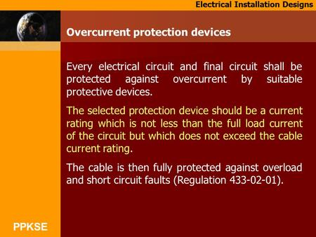 Overcurrent protection devices