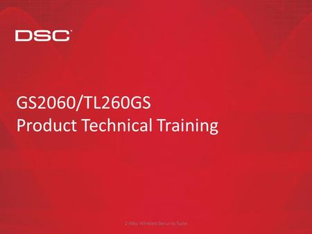 GS2060/TL260GS Product Technical Training