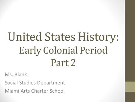 an introduction to the history of the colonial period in the united states Summary of the american colonial period the rule of the united states over the philippines had two phases the first phase was from 1898 to 1935, during which time washington defined its colonial mission as one of tutelage and preparing the philippines for eventual independence.
