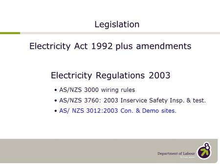 Electricity Act 1992 plus amendments  sc 1 st  SlidePlayer : as3000 wiring rules free download - yogabreezes.com
