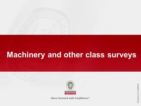 Machinery and other class surveys. Annual Survey of Machinery.