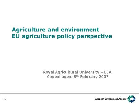 The common agricultural policy at a glance