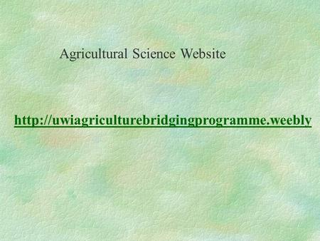 Agricultural Science Website.