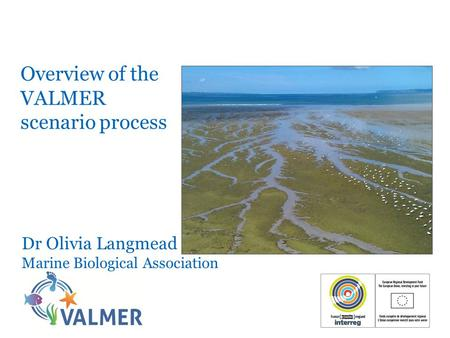 Overview of the VALMER scenario process Dr Olivia Langmead Marine Biological Association.