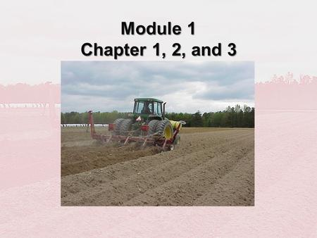 Module 1 Chapter 1, 2, and 3. Chapter 1 Overview of Soil Fumigants and Soil Fumigation.