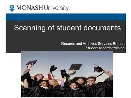Scanning of student documents