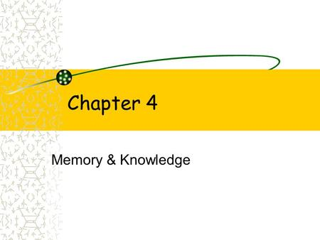 Chapter 4 Memory & Knowledge. Learning Objectives~ Ch. 4 Distinguish among sensory, working, long-term, implicit, and explicit memory, and explain why.