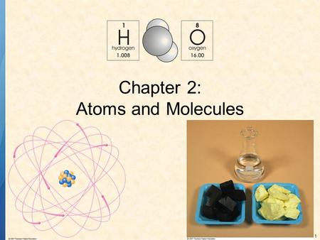 Chapter 2: Atoms and Molecules