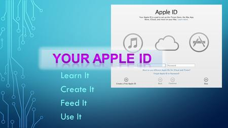 Learn It Create It Feed It Use It. APPLE ID Apple Developer Connection iWork Publishing Apple product registration Inventory iTunes Home Sharing.