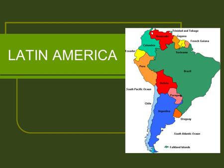 LATIN AMERICA. TERMS Creoles – descendants of Europeans born in Latin America who lived there permanently Peninsulares – Spanish and Portuguese officials.