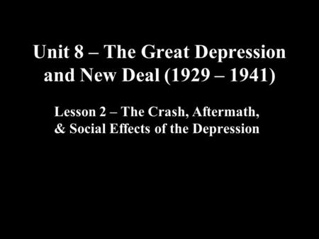 causes of the great depression and a critical view on the new deal The new deal proposed to fix the problems of the great depression in a number of ways the most important of these were in two prongs on the one hand, the new deal proposed to end overproduction.