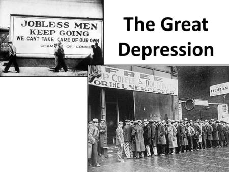 The Great Depression. Economy Appears Healthy By October 1929, stock values hit $87 billion Since 1914, wages had risen 40 percent Unemployment averaged.