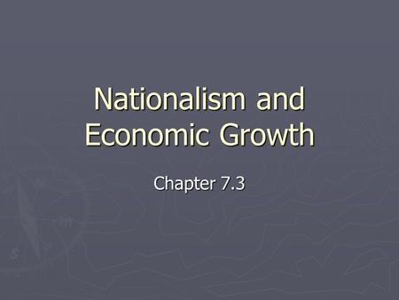 Nationalism and Economic Growth