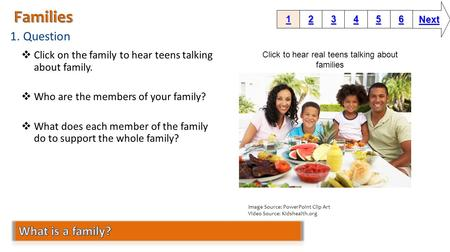 Click to hear real teens talking about families