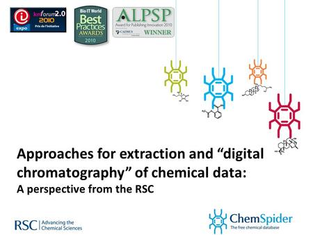 "Approaches for extraction and ""digital chromatography"" of chemical data: A perspective from the RSC."