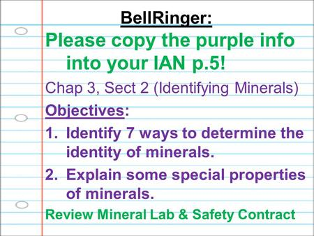 Please copy the purple info into your IAN p.5!