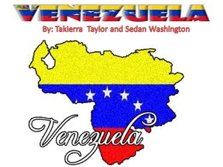 FLAGFLAG *Venezuelan Flag indicates the overall background is Red, blue and yellow. *The Venezuelan flag description is three equal horizontal bands of.
