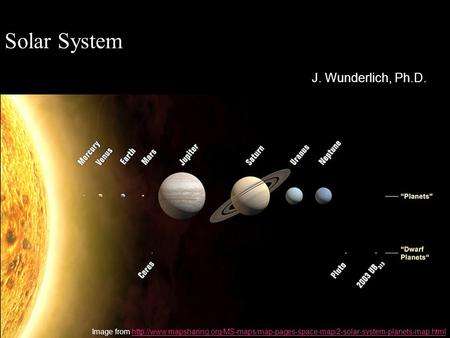 Solar System J. Wunderlich, Ph.D. Image from