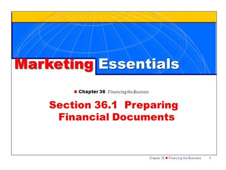 Section 36.1 Preparing Financial Documents
